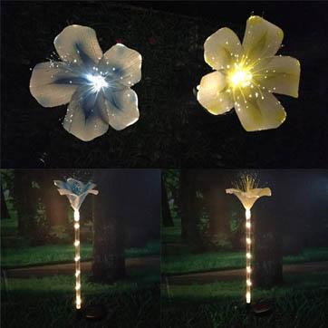 vlákno optické květiny dekorace světla