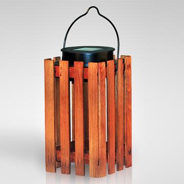 sluneční dřevěné lucerny světla
